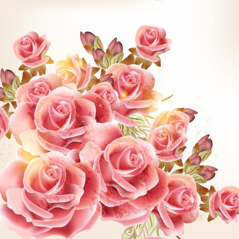 Romantic Rose Vector