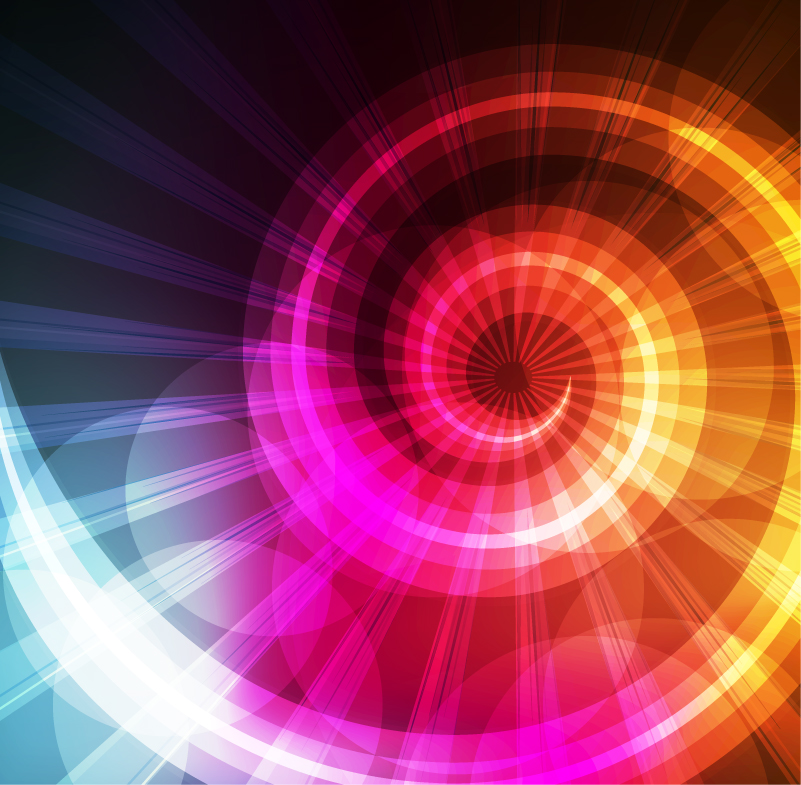Rotating Color Light Background Vector