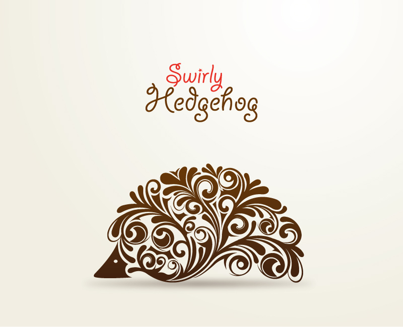 Swirly Hedgehog Vector