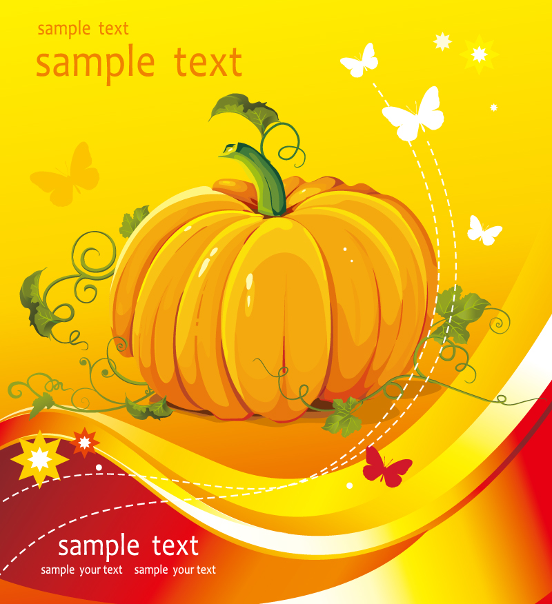 Thanksgiving Day Laity Pumpkin Patch Vector