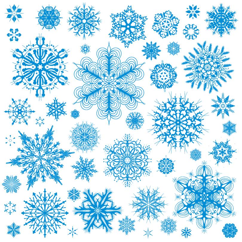 Various Christmas Snowflake Pattern Vector