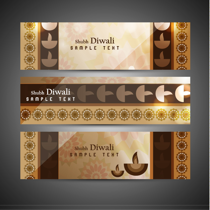 Vintage Shubh Diwali Banner Vector