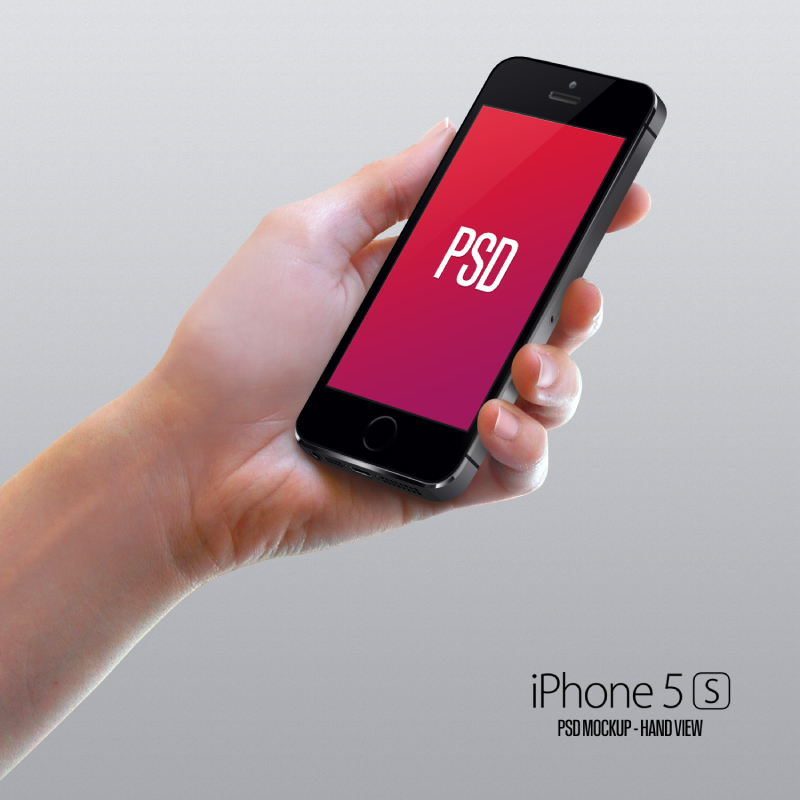 iPhone 5s Hand PSD