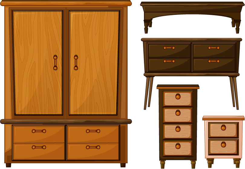 Antique Wooden Furniture Vector Free Vector Graphic Download