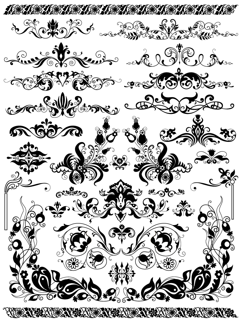 Floral decorations vector vector | free vector download in. Ai.