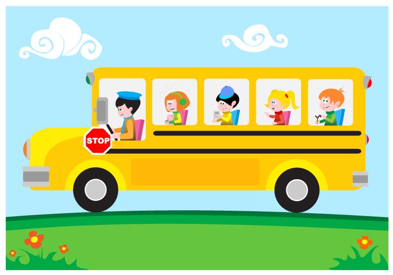 Cartoon School Bus Vector