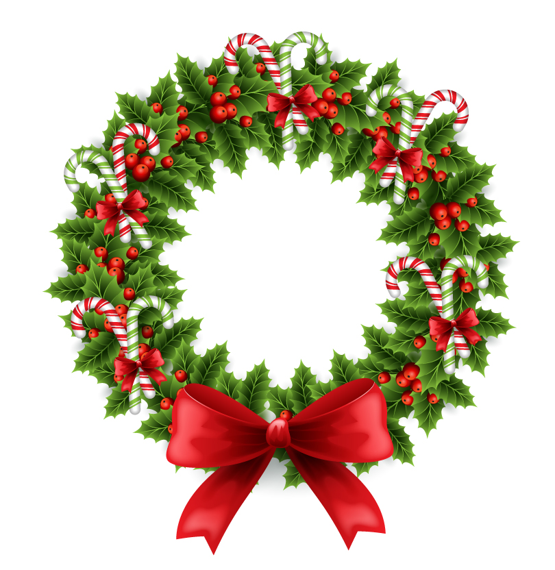 Christmas Pine Garland Dress Vector
