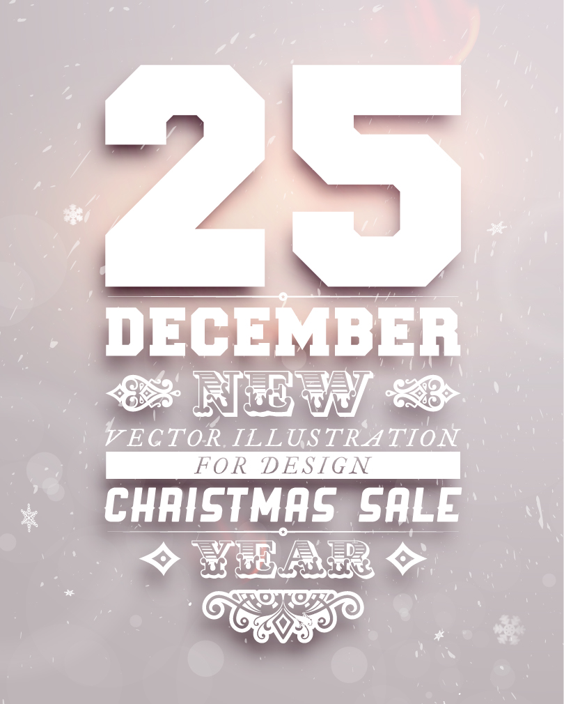 Christmas Sale Year December 25 Vector | Free Vector Graphic Download