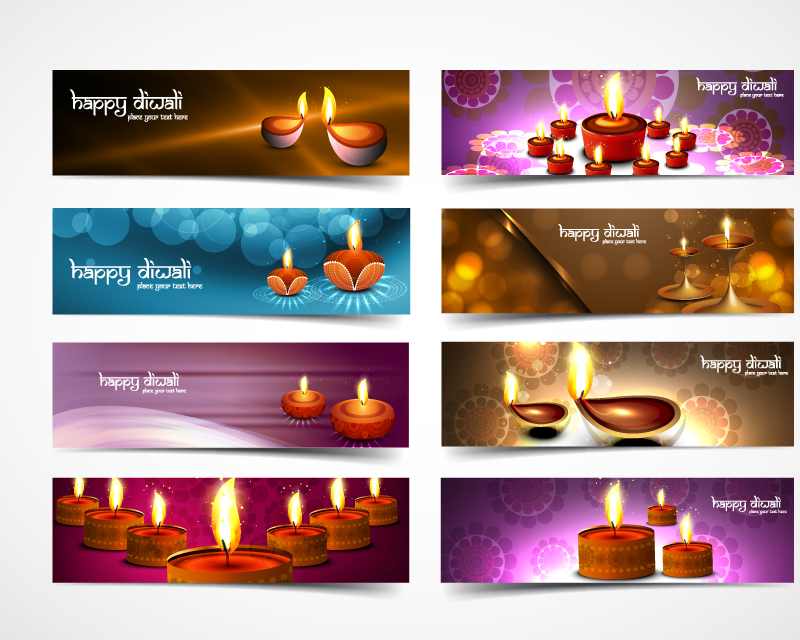 Diwaly Indian NewYear Celebrati Banner Vector