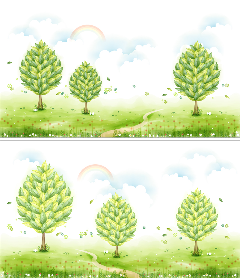 Fresh Trees illustrator Vector