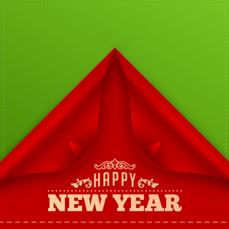 Front Cover Happy New Year Vector