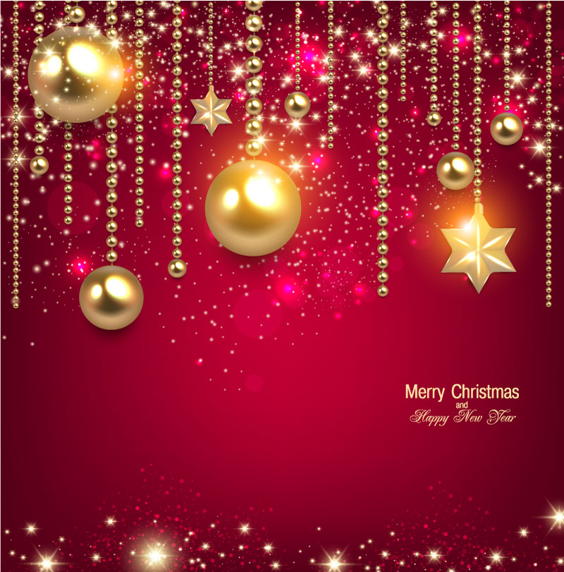 Gold Xmas Ball Star Vector