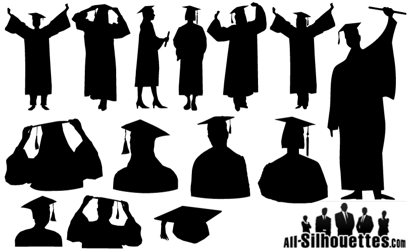 Graduate Silhouette Vector Free Vector Graphic Download