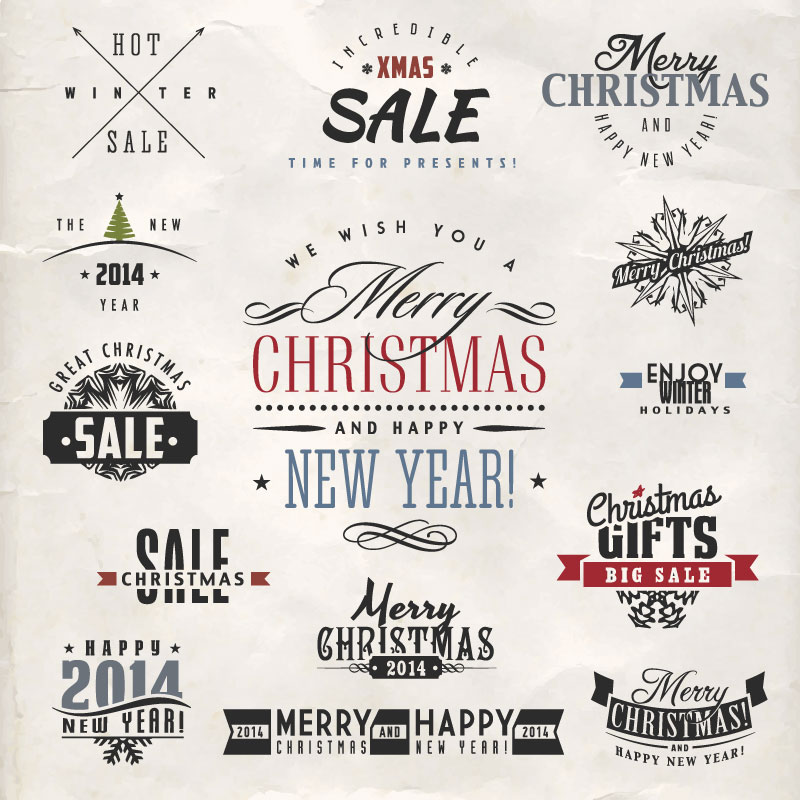 Great Christmas Sale Tag Vector