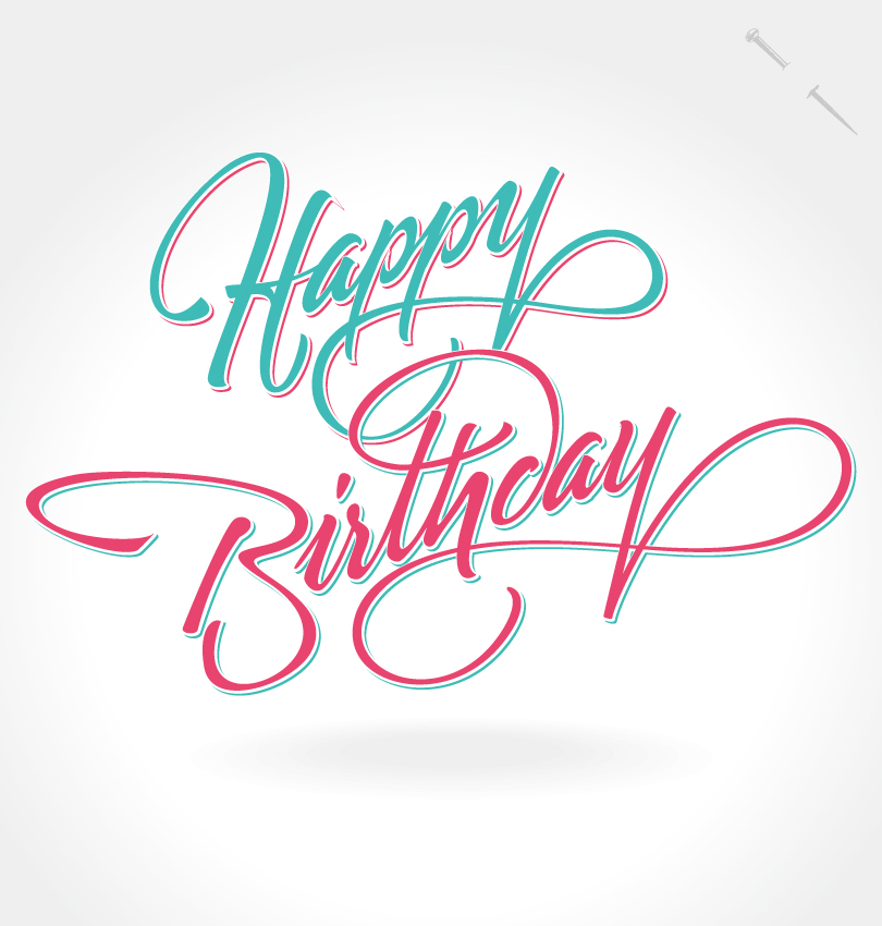 Happy Birthday Notes Design Vector