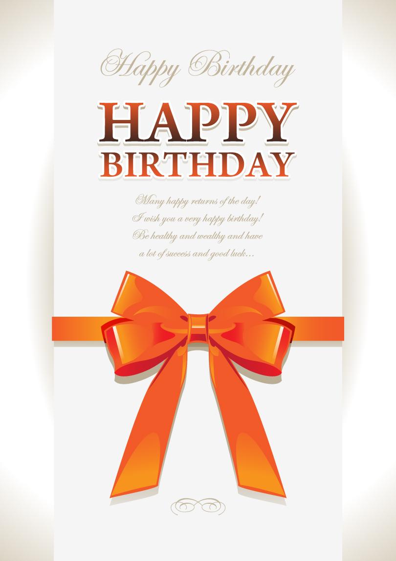 Happy Birthday Ribbon Vector