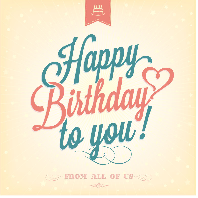 Happy Birthday To You Cake Tag Vector