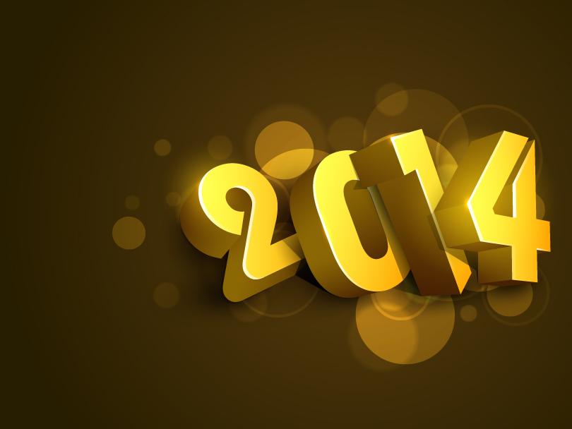 Happy New Year 2014 Soil Tommy Wong Vector