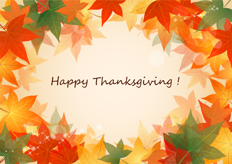 Happy Thanksgiving Maple illustrator Vector