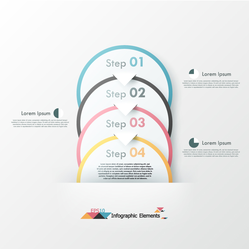Infographic Elements Ring Step Vector