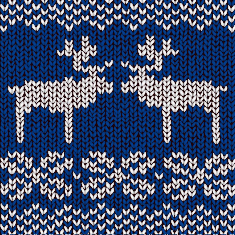 Knitting Elk Background Vector