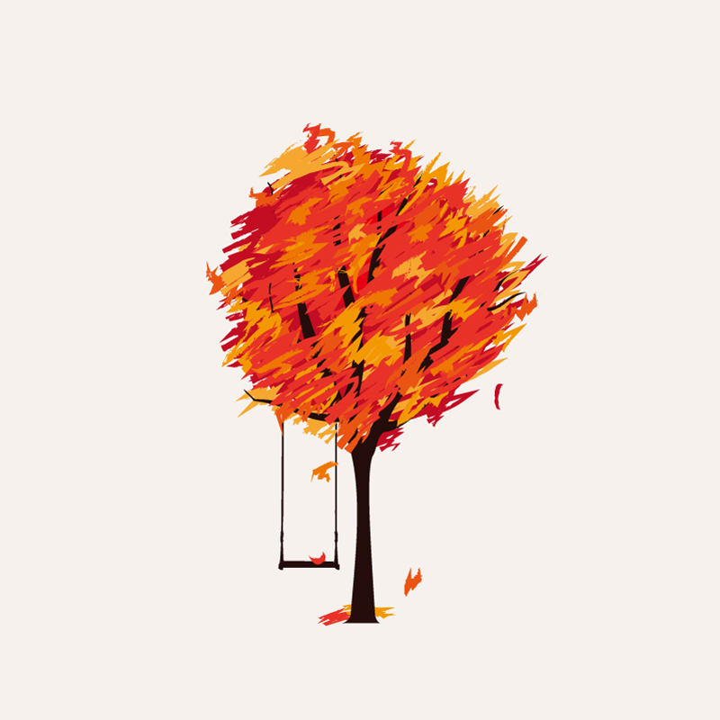 Lonely autumn illustrator vector free download file type eps file