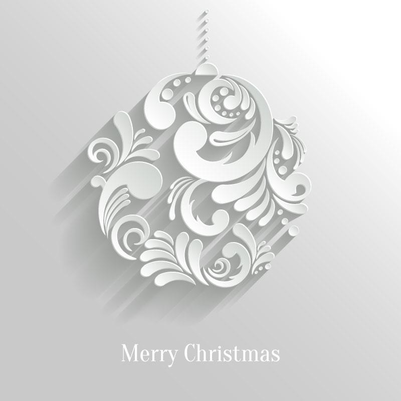 Merry Christmas Ball Vector