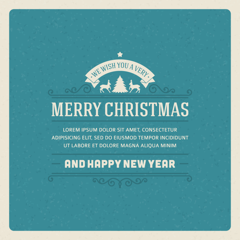 Merry Christmas Front Cover Vector