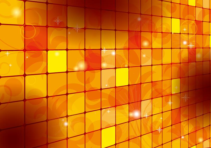 Orange Box Background Vector