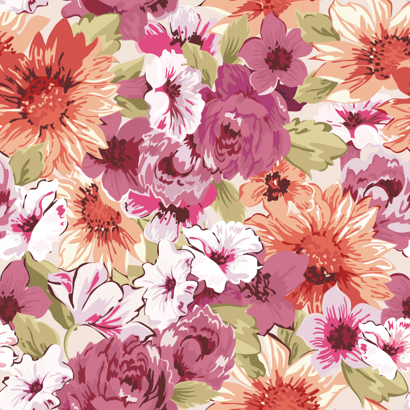 Paint Floral Background Vector