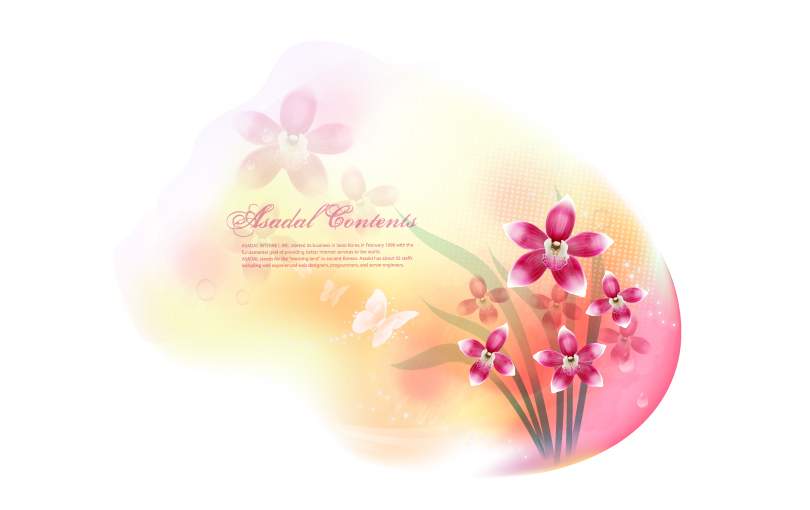 Romantic Butterfly Orchid Vector
