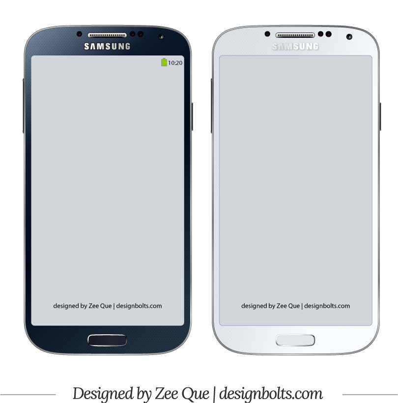 Samsung Galaxy S4 Model Vector