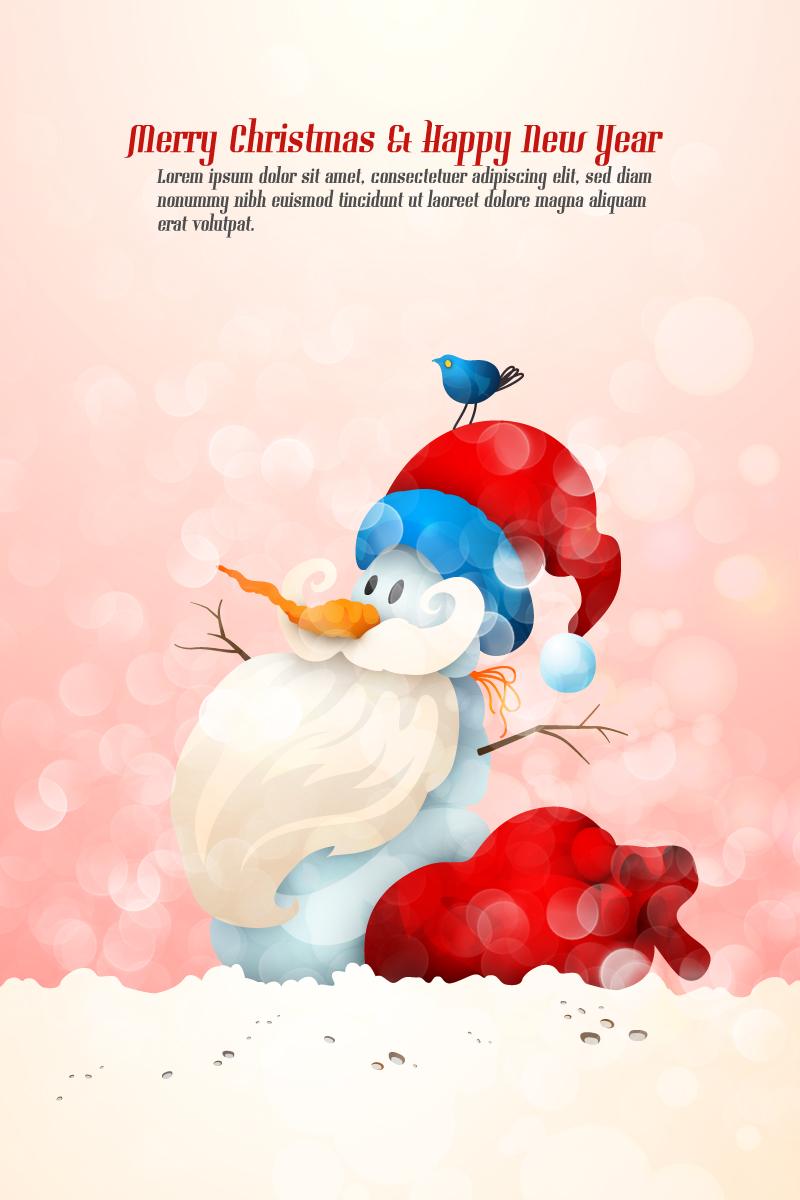 Santa Claus Snowman Vector