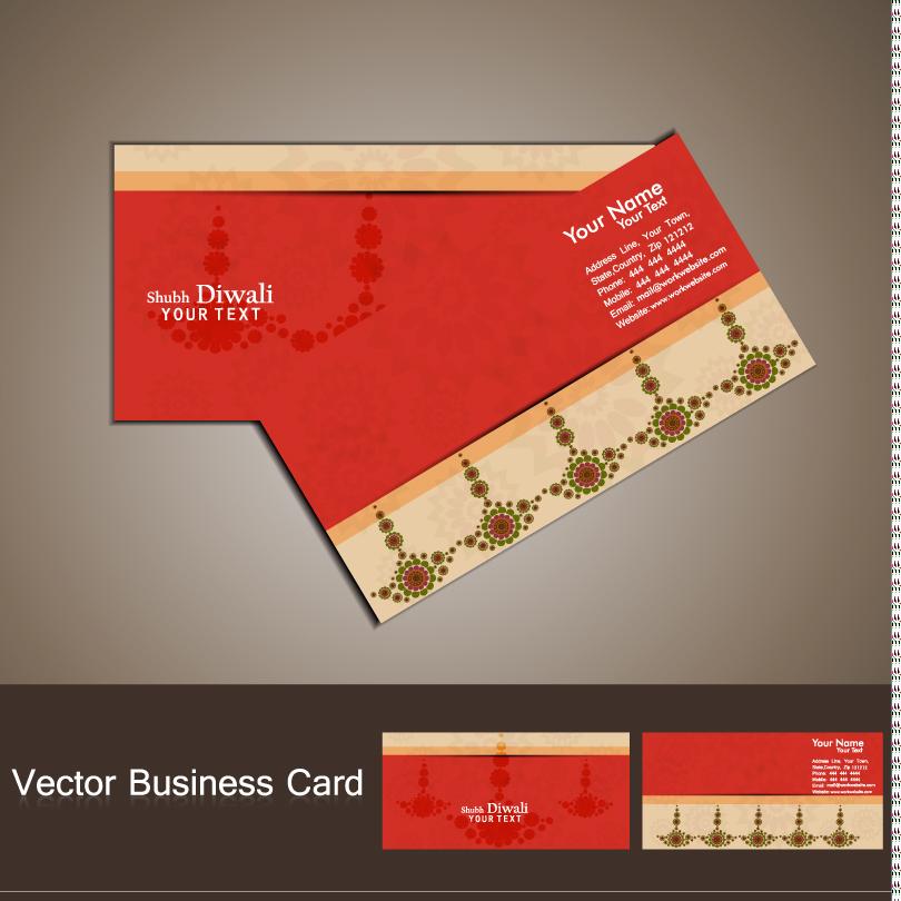Shubh Diwali Business Card Vector