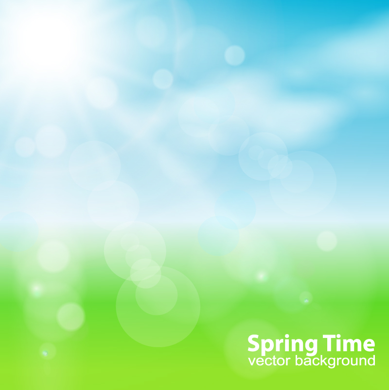 Spring Time Background Vector