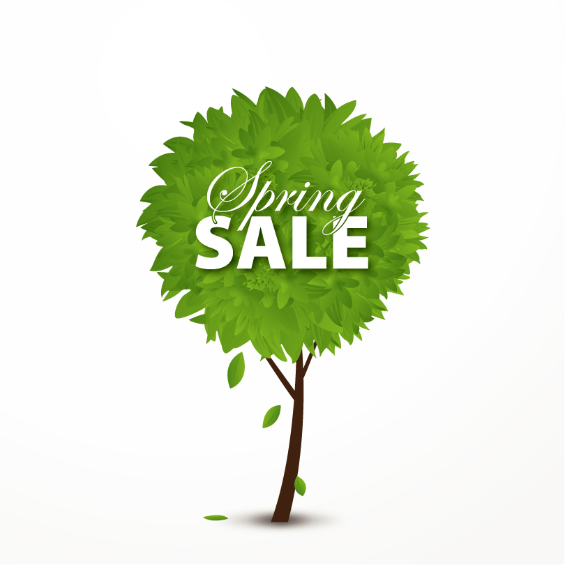 Spring Tree Sale Posters Vector