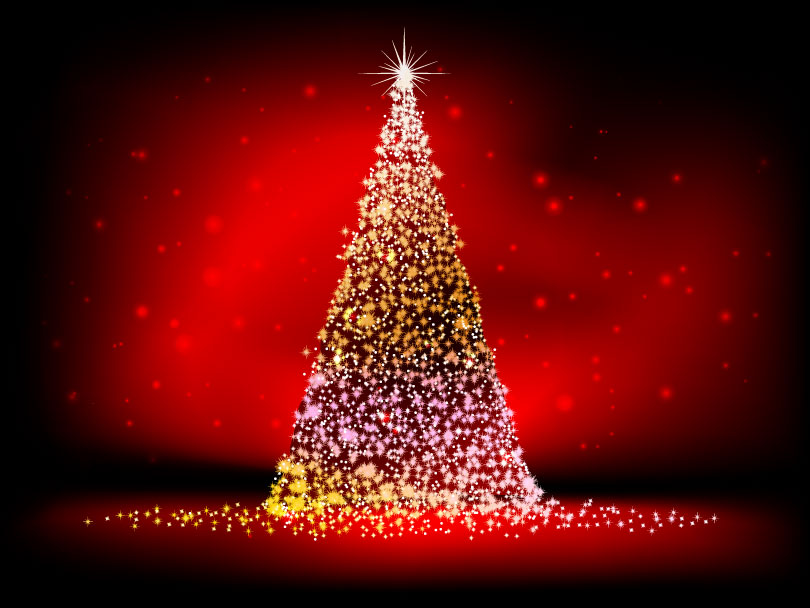 Star Collection Christmas Tree Vector