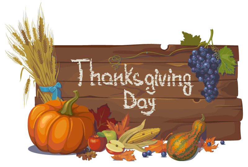 Thanksgiving Day Crop Bulletin Board Vector