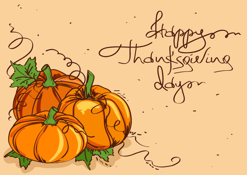 Thanksgiving Pumpkin Painting Vector