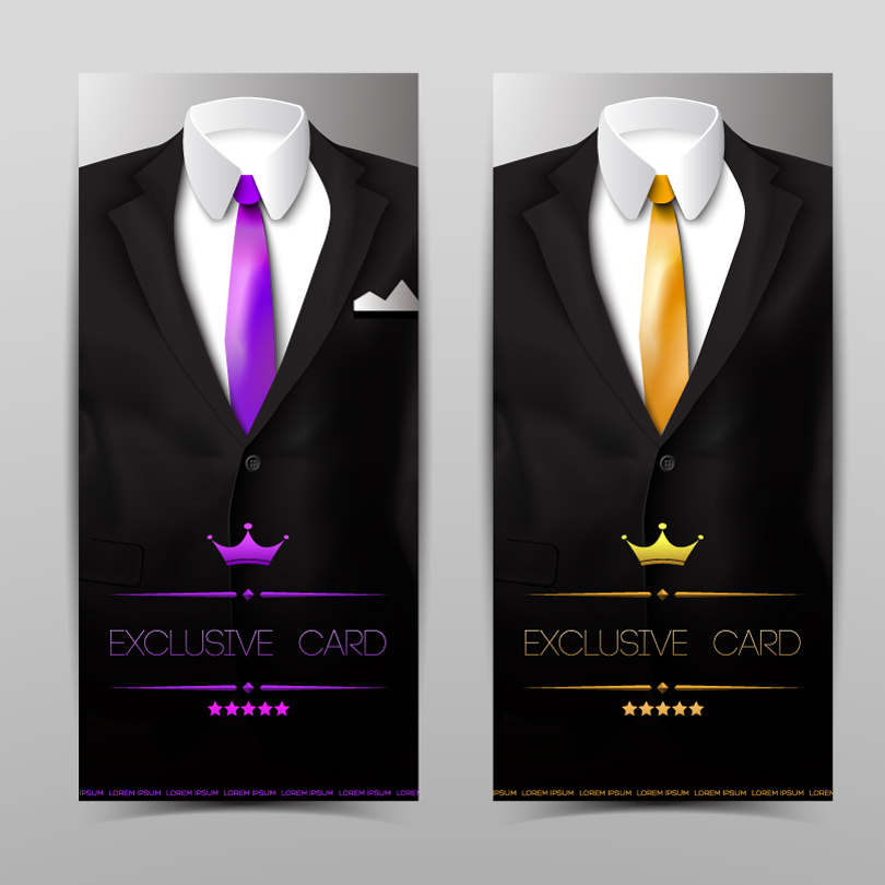 Tuxedo Exclusive Card Vector