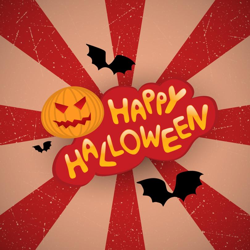 Vintage Posters Happy Halloween Vector