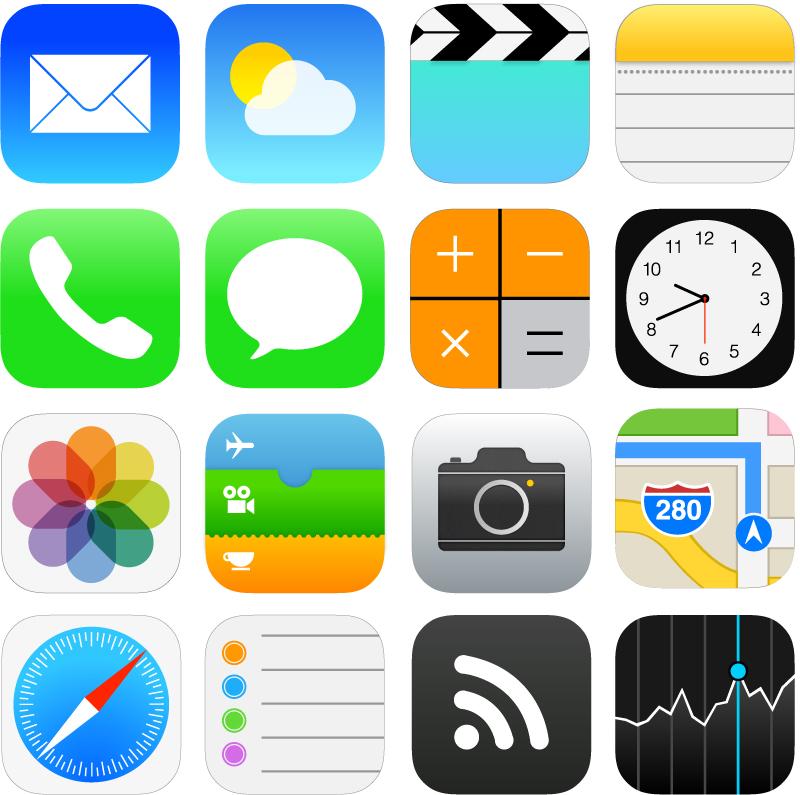 скачать иконки в стиле apple: