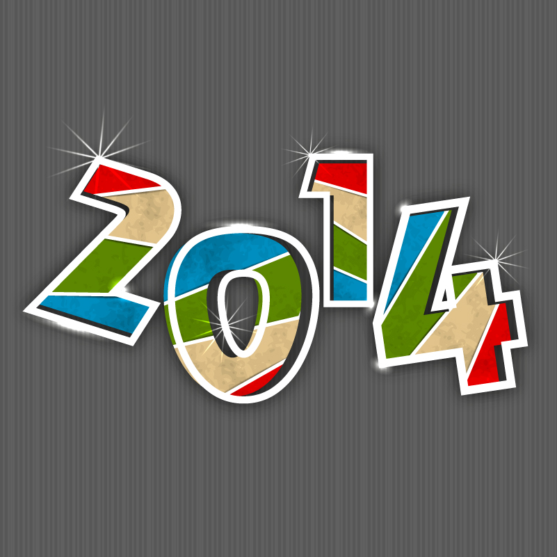 2014 WordArt Color Bar Vector