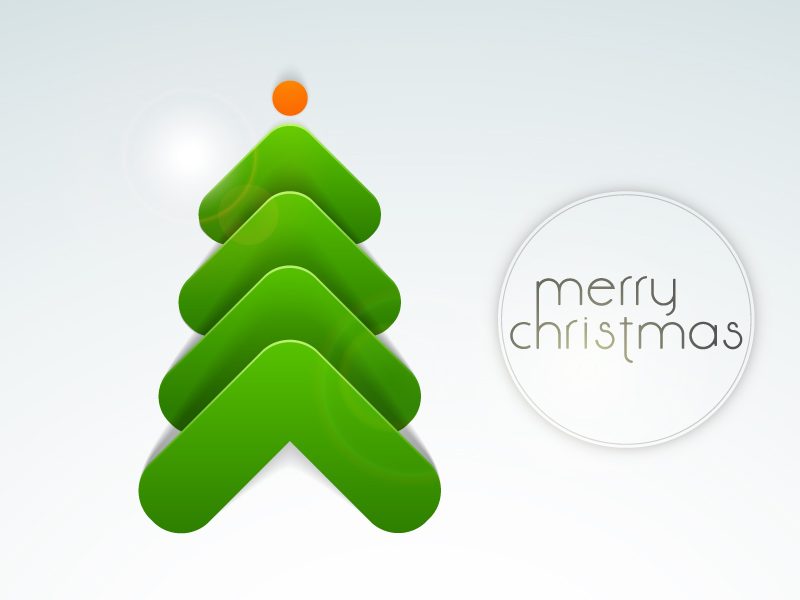 Abstract Arrows Christmas Tree Vector