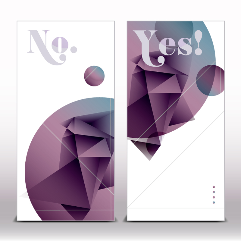 Abstract Shaped Origami Banner Vector