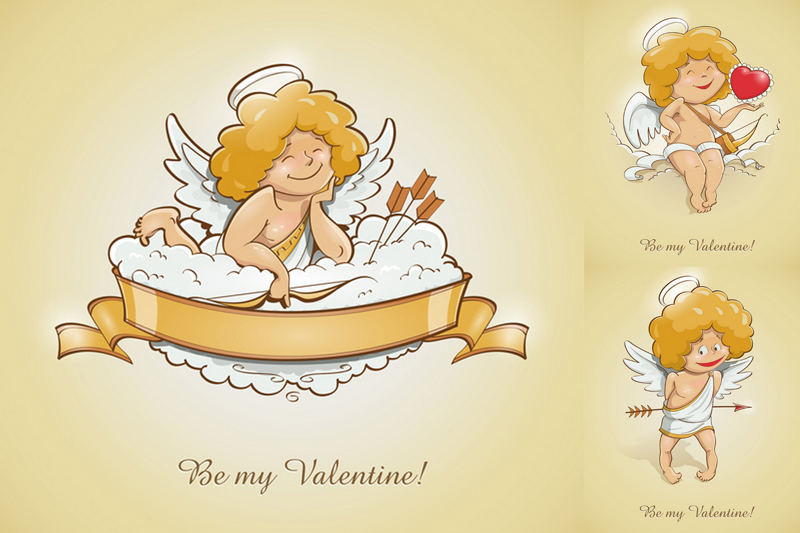 Blond Angel illustration Vector