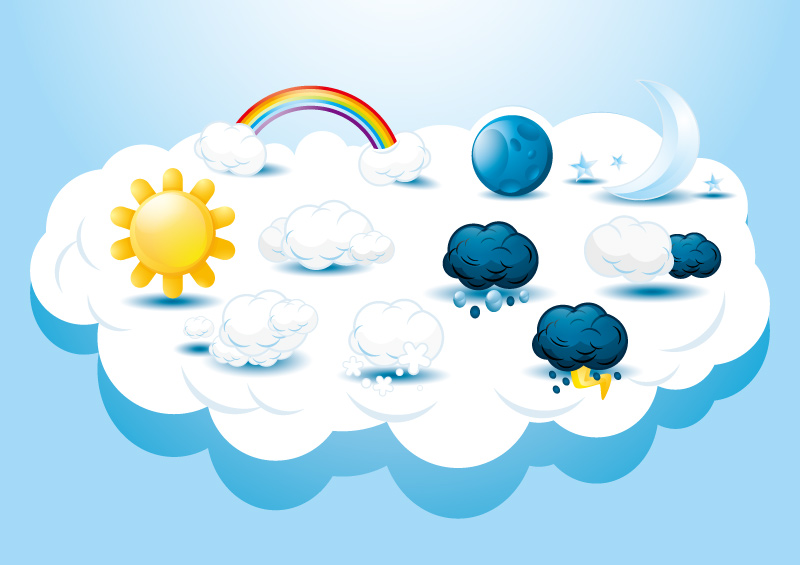 Cartoon weather icon vector free download