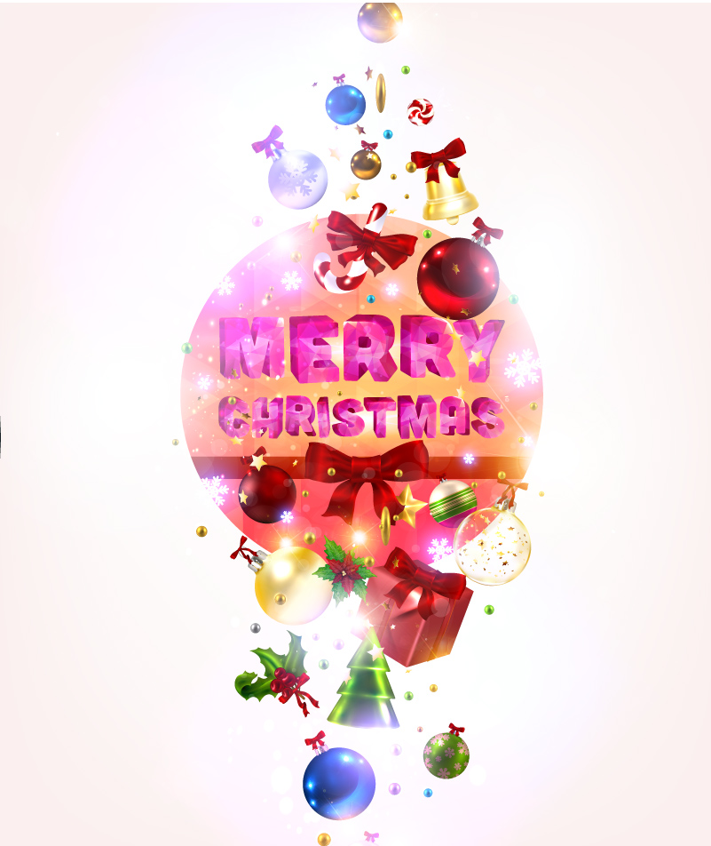 Christmas Ball Ribbon Bell Vector