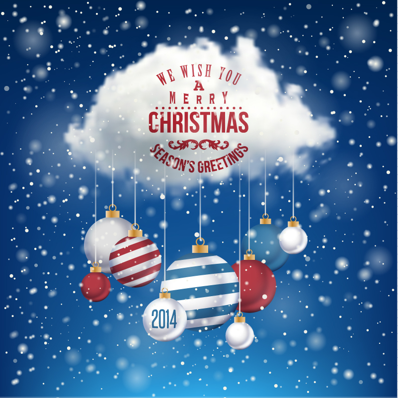 Christmas Clouds Lob Vector
