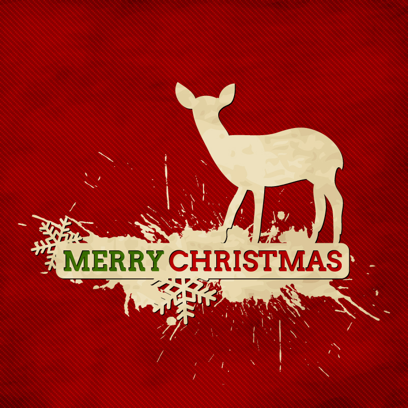 Christmas Elk Silhouette Vector